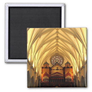 St. Joseph's Cathedral - Choir Loft / Organ Pipes 2 Inch Square Magnet