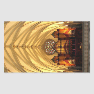 St. Joseph's Cathedral - Choir Loft / Organ Pipes Rectangular Sticker