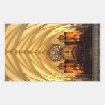 St. Joseph's Cathedral - Choir Loft / Organ Pipes Rectangular Sticker