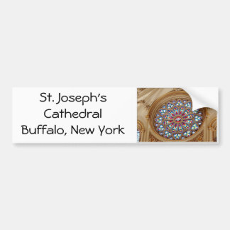 St. Joseph's Cathedral - Stained Glass Window Bumper Sticker