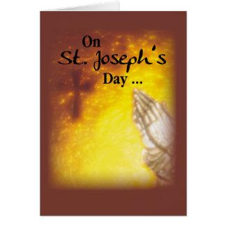 St. Joseph's Day Praying Hands Card