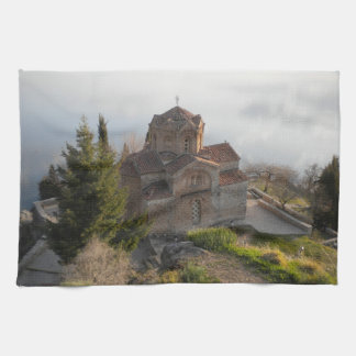 St. Jovan's Church on Lake Ohrid, Macedonia Kitchen Towel