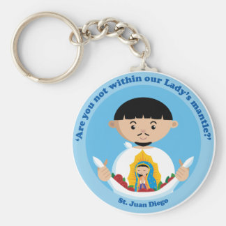 St. Juan Diego Basic Round Button Keychain