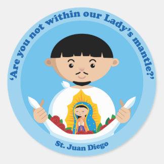 St. Juan Diego Etiqueta Redonda