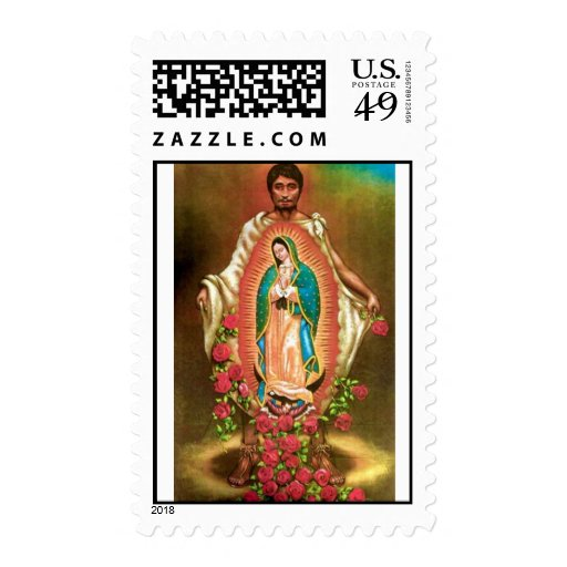 St. Juan Diego with Tilma of Guadalupe Stamp