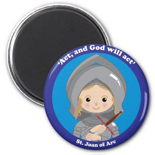 St. Juana de Arco Imán Para Frigorífico