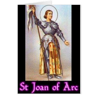St. Juana de Arco Tarjeta De Felicitación