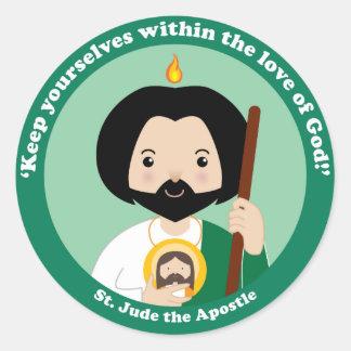 St. Jude el apóstol Pegatina Redonda