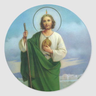 St. Jude el primo del apóstol de Jesús Pegatina Redonda