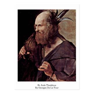St. Jude Thaddeus By Georges De La Tour Postcard