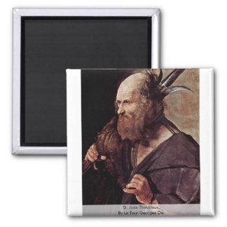 St. Jude Thaddeus, By La Tour Georges De 2 Inch Square Magnet