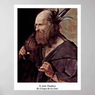 St. Jude Thaddeus de Georges de La Tour Póster