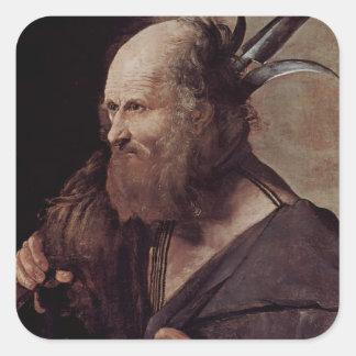 St. Jude Thaddeus de Jorte de la Tour- Pegatina Cuadrada