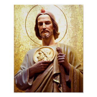 St Jude Thaddeus, patron saint of the impossible. Poster