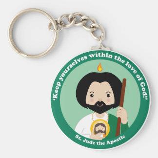 St. Jude the Apostle Basic Round Button Keychain
