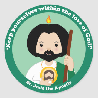 St. Jude the Apostle Classic Round Sticker