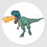 St Judeasaurus Rex by Steve Miller Classic Round Sticker