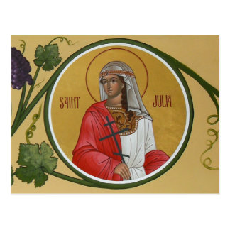 St. Julia Prayer Card