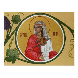 St. Julia Prayer Card Postcard
