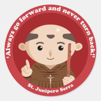 St. Junipero Serra Classic Round Sticker