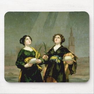 St. Justina and St. Rufina, 1817 Mousepad