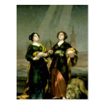 St. Justina and St. Rufina, 1817 Postcards