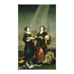 St. Justina y St. Rufina, 1817 Impresiones En Lona Estiradas