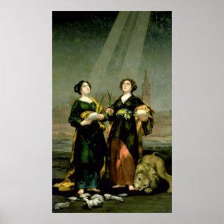 St. Justina y St. Rufina, 1817 Poster
