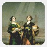 St. Justina y St. Rufina, 1817 Pegatina Cuadrada