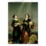 St. Justina y St. Rufina, 1817 Tarjeta De Felicitación