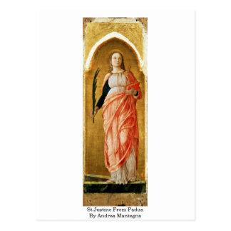 St.Justine de Padua de Andrea Mantegna Tarjeta Postal