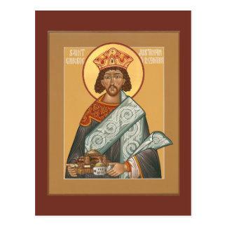 St. Justinian Emperor of Byzantium Prayer Card Postcard