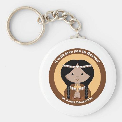 St. Kateri Tekakwitha Llaveros Personalizados