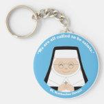 St. Katharine Drexel Basic Round Button Keychain