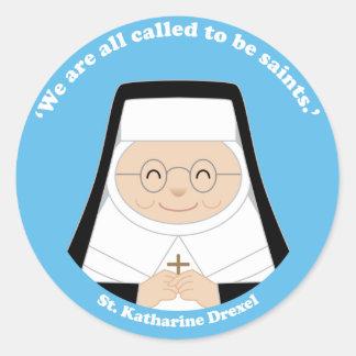 St. Katharine Drexel Etiquetas Redondas