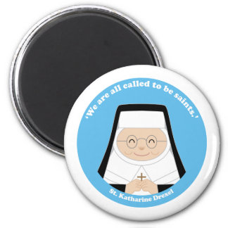 St. Katharine Drexel Imán Redondo 5 Cm