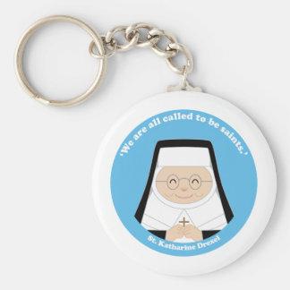 St. Katharine Drexel Llavero Redondo Tipo Pin