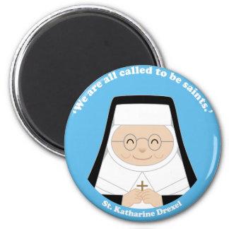 St. Katharine Drexel 2 Inch Round Magnet