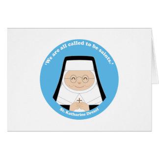 St. Katharine Drexel Tarjeta De Felicitación