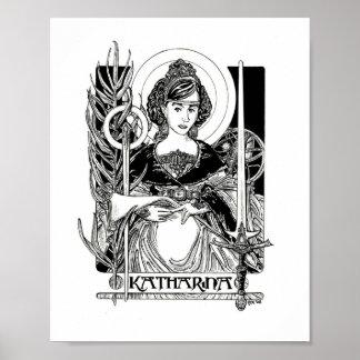 St Katherine de Alexandría Posters