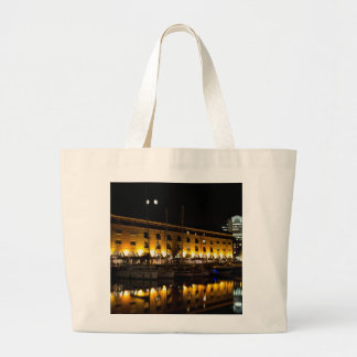 St Katherines Dock London night View Tote Bags
