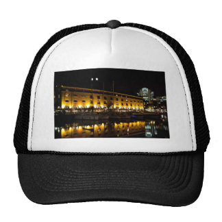 St Katherines Dock London night View Trucker Hat