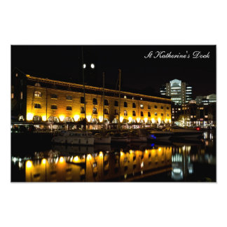 St Katherines Dock London night View Photograph
