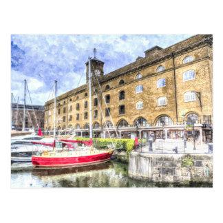 St Katherines Dock London Postcard