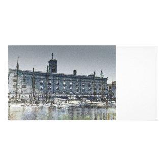 St Katherine's Dock London sketch Card