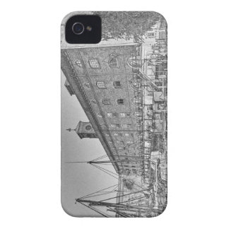 St Katherine's Dock London sketch Case-Mate iPhone 4 Cases