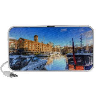 St Katherines Dock London Travelling Speakers