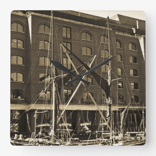 St Katherine's Dock London Square Wall Clock