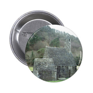 St Kevins Church Glendalough Co Wicklow Ireland Pinback Buttons