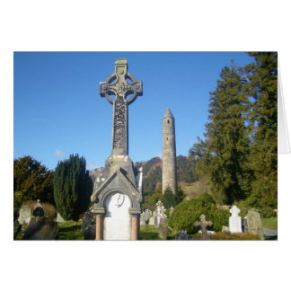 St. Kevin's Cross and the Round Tower Greeting Card